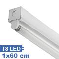 T8 szabadonsugárzó lámpatest 1 db 60 cm-es LED fénycsőhöz