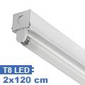 T8 szabadonsugárzó lámpatest 2 db 120 cm-es LED fénycsőhöz