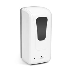 Falra szerelhető automata szappan és kézfertőtlenítő adagoló (1000 ml) fehér, USB+elemes működés