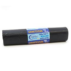 Szemetes zsák 200L (100x130cm) 10db, extra erős, fekete