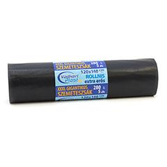 Szemetes zsák 280L (120x140cm) 5db, extra erős, fekete