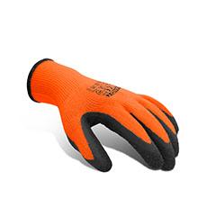 Szerelő szövet-latex kesztyű (L/9) narancssárga