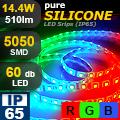 LED szalag PureSilicone kültéri (5050-60) - RGB Legerősebb!