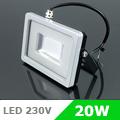 Slim LED reflektor (20 Watt/SMD/100°) Zöld fényű