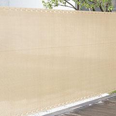 Szőtt árnyékoló háló 90%-os takarás (90 cm x 5 méter) belátáskorlátozó, bézs