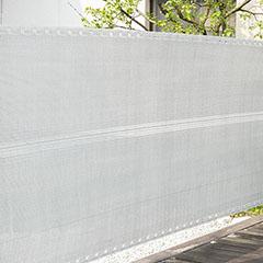 Szőtt árnyékoló háló 90%-os takarás (90 cm x 5 méter) belátáskorlátozó, ezüstszürke
