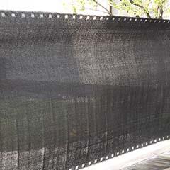 Szőtt árnyékoló háló 90%-os takarás (90 cm x 5 méter) belátáskorlátozó, fekete
