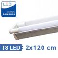 T8 szabadonsugárzó lámpatest + 2 db 120 cm-es Samsung LED fénycső (2x18W-6400K)
