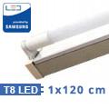 T8 szabadonsugárzó lámpatest + 1 db 120 cm-es Samsung LED fénycső (18W-4000K)