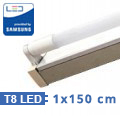 T8 szabadonsugárzó lámpatest + 1 db 150 cm-es Samsung LED fénycső (22W-6400K)