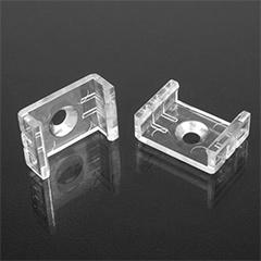 ALP-002 Tartó-, rögzítő elem LED profilhoz, műanyag
