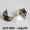 ALP-005 Tartó-, rögzítő elem alumínium LED profilhoz, fém