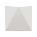 Triangles oldalfali dekor lámpatest - fehér (5W) meleg fehér