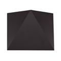 Triangles oldalfali dekor lámpatest - fekete (5W) meleg f.