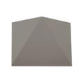 Triangles oldalfali dekor lámpatest - szürke (5W) meleg fehér
