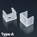 Type-A alumínium LED profilhoz tartófül, műanyag rögzítőelem