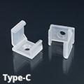 Type-C alumínium LED profilhoz, műanyag rögzítőelem, tartófül