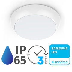 Oldalfali-Mennyezeti UFO lámpa PRO 17W (4000K, IP65) vészvilágítás funkció, mikrohullámú mozgásérzékelő, Samsung LED