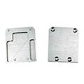 Design Unico LED profil véglezáró elem - alumínium - bal, zárt