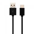 Standard USB - Micro USB adatkábel, töltőkábel (1.5 méter) fekete - USB 2.0