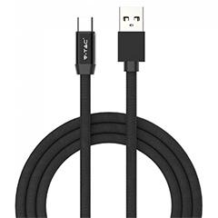 Ruby USB - USB-C pamut-szövetkábel (1 méter) fekete - USB 2.0