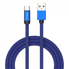 Ruby USB - USB-C pamut-szövetkábel (1 méter) kék - USB 2.0