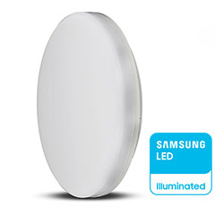 IP44 LED panel falon kívüli - kör (15W) Samsung Chip, hideg fehér