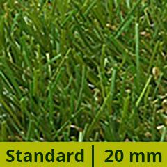 20 mm-es műfű - Standard, 8 év garancia - 2 méter széles tekercsből