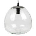 Chrome-3 üveg burás csillár (E27) - átlátszó bura (250 mm)
