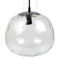 Chrome-3 üveg burás csillár (E27) - átlátszó bura (300 mm)