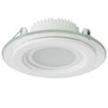 Üveg keretes, gipszkartonba süllyeszthető LED panel (kör) - 6W - hideg fényű
