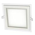 Üveg keretes LED panel (négyzet) - 12W - hideg fényű