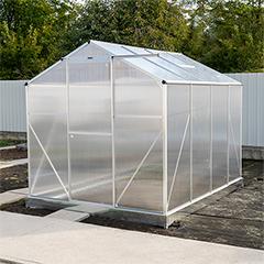 - Melegház, üvegház, 4 mm-es polikarbonát borítással, alu vázas (4.93 m2)