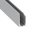 Type-I6 Alu profil üvegszorító profil ezüst - világító plexi / üveg tábla készítése