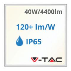 LED panel (595 x 595mm) 40W - természetes fehér, 110Lm/W - IP65!