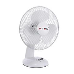 Asztali ventilátor fehér színben (34 cm - 40W) 4 gombos