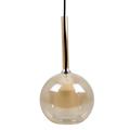 Double üveg burás csillár (E27) - borostyán+fehér bura (180 mm)