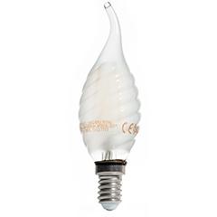 E14 LED izzó Loft filament (4W/300°) Csavart gyertya láng - hideg fehér