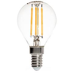 E14 LED izzó Retro filament (4W/300°) Kisgömb - hideg fehér