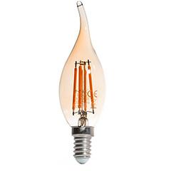 E14 LED izzó Vintage filament (4W/300°) Láng - extra meleg fehér