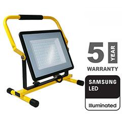 Hordozható LED reflektor (100W/100°) hideg fehér, Samsung Chip