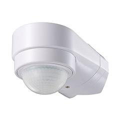 Sarokra szerelhető infravörös mozgásérzékelő, fehér színben (600W) IP65