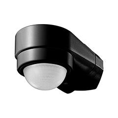 Sarokra szerelhető infravörös mozgásérzékelő, fekete (600W) IP65