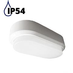 IP54 Opál mennyezeti LED lámpa ovál (8W) WH - hideg f.