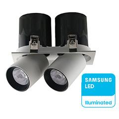 LED mélysugárzó kiemelhető, dupla, (36W/24°) Samsung - természetes fehér, CRI>90