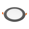 Króm LED panel (kör alakú) 12W - hideg fehér
