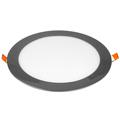 Króm LED panel (kör alakú) 18W - hideg fehér