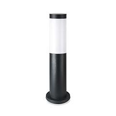 Fekete kültéri álló lámpa (E27) rozsdamentes acél, 45 cm