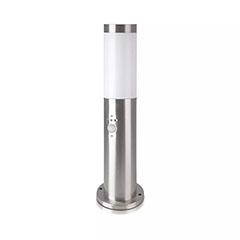 Inox Steel kültéri álló lámpa (E27) rozsdamentes acél, mozg. érz., 45 cm