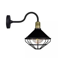 Industrial kültéri oldalfali lámpatest IP65 (E27) fekete-bronz